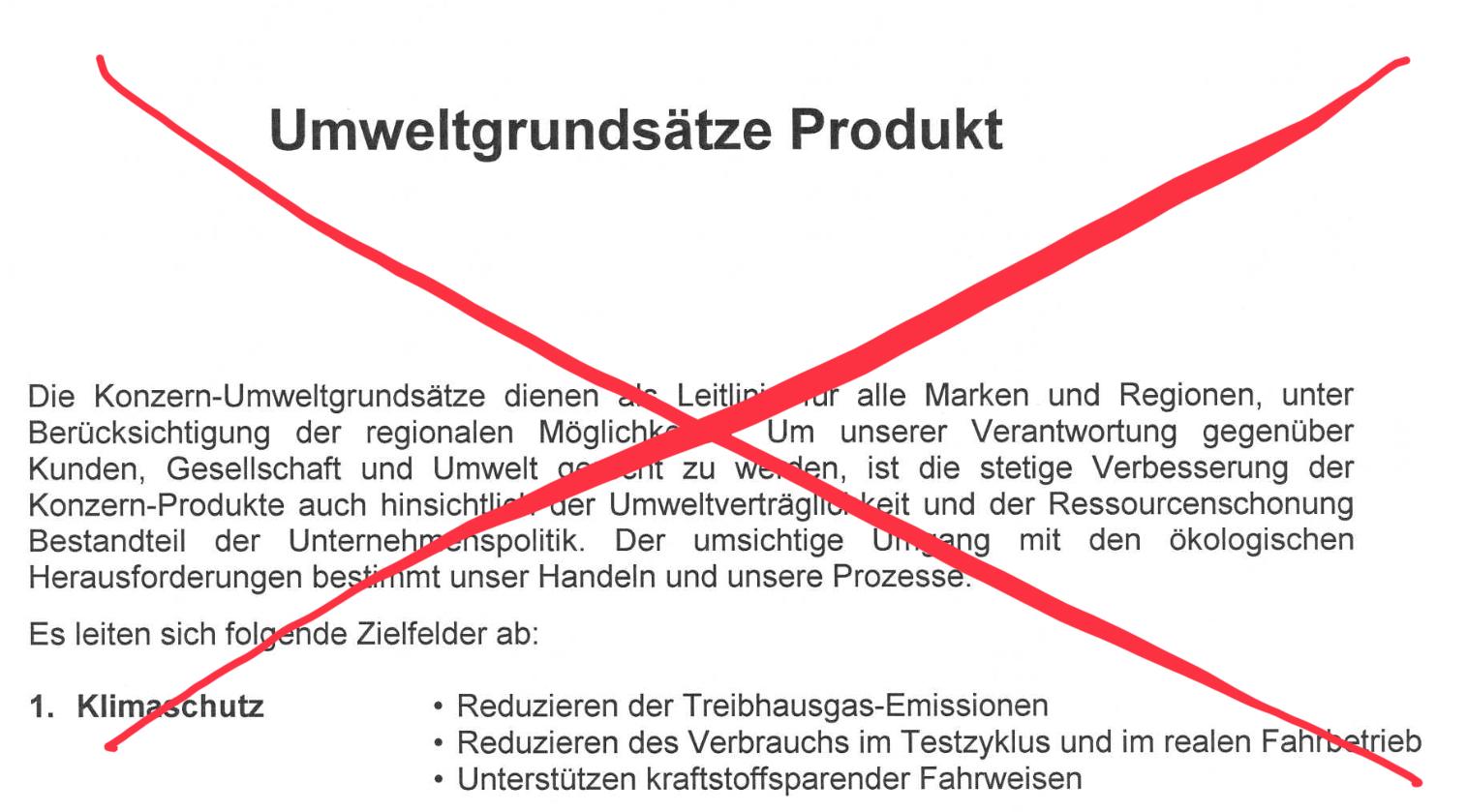 Umweltpolitik der Volkswagen Aktiengesellschaft
